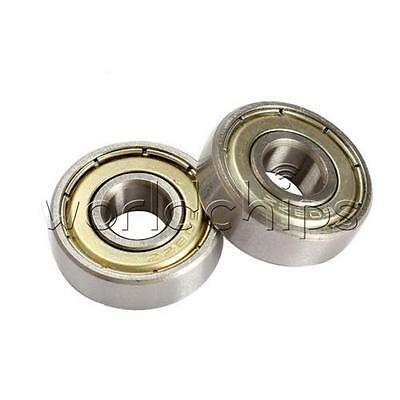 2PCS Carbon Steel 608zz Deep Groove Ball Bearing For Skateboard Scooter