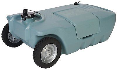 Portable Waste Sewer Water Rolling Transport Tank RV Trailer Camping 15 Gallon