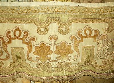 Magnificent Antique Silk and Velvet Curtain Valance  no. 2