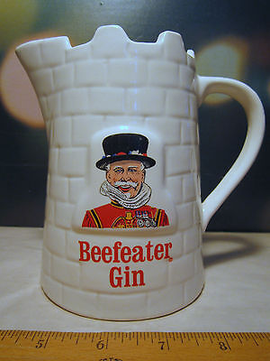 Beefeater Gin Castle Ceramic Pitcher England Kobrand 94 proof Natural Spirits