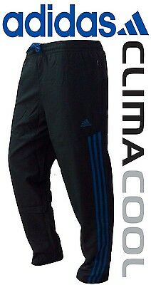 New Adidas Mens Black Athletic Football Trackpants pants lowers joggers S M L XL