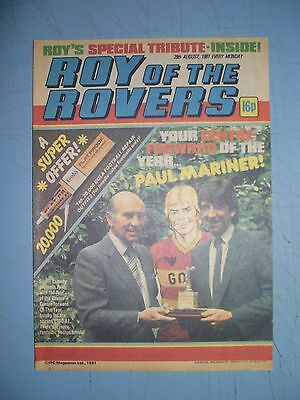 Roy of the Rovers issue dated August 29 1981