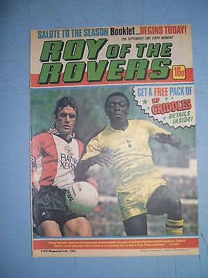 Roy of the Rovers issue dated September 12 1981