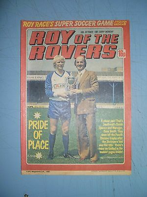 Roy of the Rovers issue dated October 10 1981