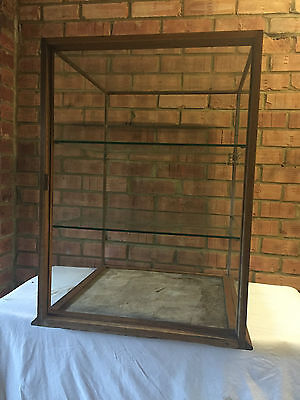 Antique Victorian Shop Counter Display Cabinet Glass/Oak 1800's
