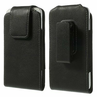 "360` Swivel Belt Clip Leather Pouch Case Holster For (4.7-5.2"" Screen Phones)"