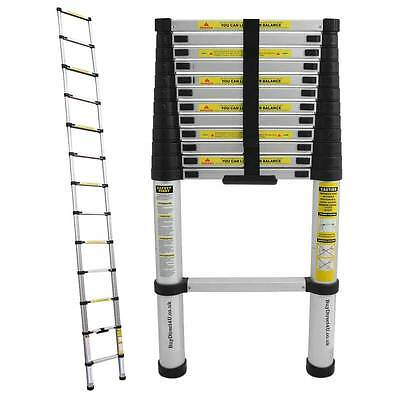 New and easy to fold 3.8M 12.6FT Multi-Purpose Telescopic Scalable Ladder Alumin