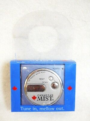 CANADIAN MIST WHISKEY auto scan FM SPORTS RADIO promotional give away 2002