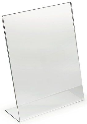 "100 Acrylic 8.5"" x 11"" Slanted Picture Frame / Sign Holders"