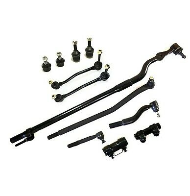 New 9pc Complete Front Suspension Steering Tie Rod Ends Ball Joints 4WD ONLY