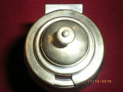 1 of 2 a Cut Glass Silver plated lid condiment jars. 2 Cut glass with brass lid.