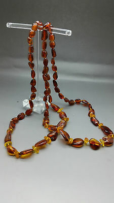 Beautiful Genuine Baltic Amber Necklace Cognac/Citrine for Girls/Woman
