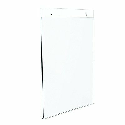 "Dazzling Displays 50 Acrylic 8-1/2"" x 11"" Wall Mount Sign Holders"
