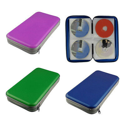 80 CD DVD Disc Storage Carry Case Cover Wallet Holder Bag Album Hard Box Pouch