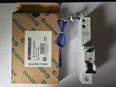Crabtree Starbreaker 61/C10630 (plug in type) 6A Type C 30mA RCBO