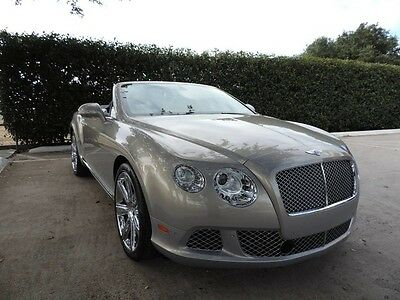 2012 Bentley Continental GT GTC Convertible 2-Door GT Convertible! One owner and nice as new! All service up to date!!