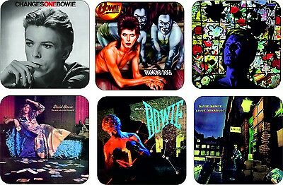 David Bowie Album Cover Selection Wooden Coaster Set