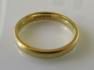 Secondhand 18Ct Yellow Gold Wedding (3Mm) Band Ring Size N.