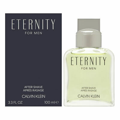 Eternity by Calvin Klein for Men 3.4 oz After Shave Splash Bottle New In Box