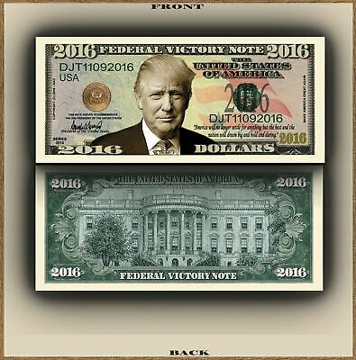 Donald Trump Victory President Million Dollar Novelty Bill