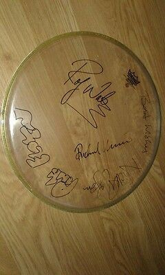Authentic Signed Rare Pink Floyd Drumskin..waters Wright Mason .real Signatures