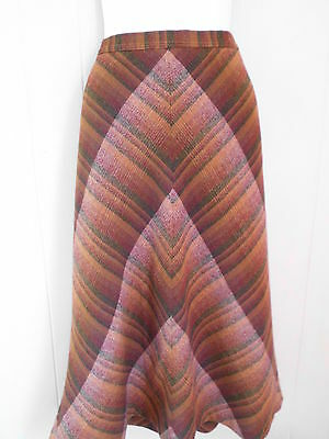 Haskell&Fron Vintage A Line Wool Skirt browns/burgundy 14(10)