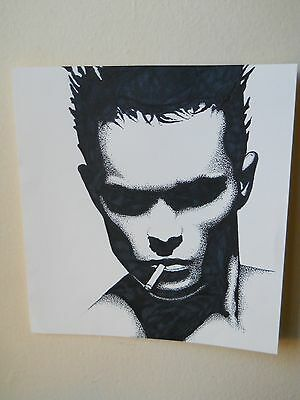 MALE PORTRAIT DRAWING......gay interest....9 X 9 1/2  INCHES
