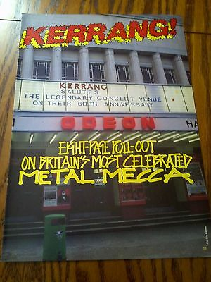 Hammersmith Tribute Metallica Motorhead Maiden Thunder 8 Page Pull Out Kerrang