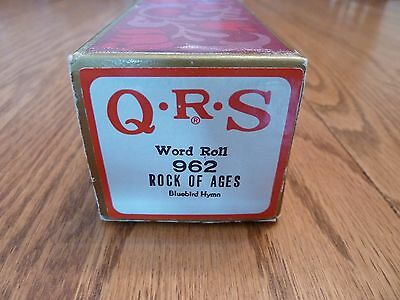 "QRS Pianola Roll - Hymn Tune - ""ROCK OF AGES"""