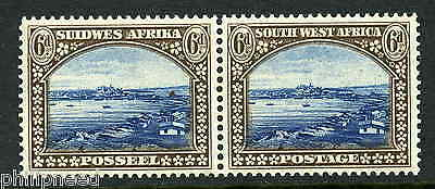 South West Africa SG 79 Never Hinged Mint Pair 1931 6d Luderitz Bay [M160