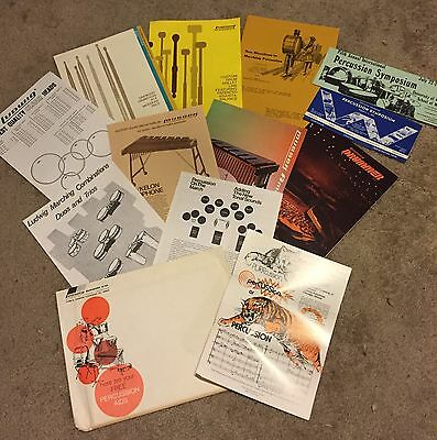 Vintage Ludwig Drumset Concert Percussion Catalogs Price Lists Etc
