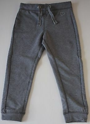 Girls Jersey Grey Tracksuit Bottoms Jogging Trousers Children Sweatpants 2-14Y
