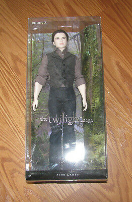 "NIP The Twilight Saga ""Emmett"" Pink Label Barbie Collector Doll NEW"