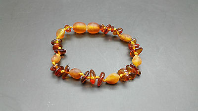 Genuine BALTIC AMBER BABY Knotted Bracelet
