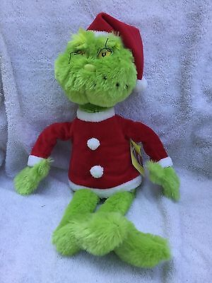 Dr. Seuss The Grinch in Santa Suit Plush Toy Manhattan Toy Co NWT