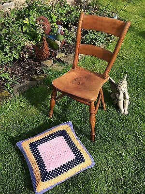 Vintage Oak Rustic Chair Shop Display Prop