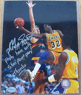 Magic Johnson Los Angeles Lakers signed 8x10 photo