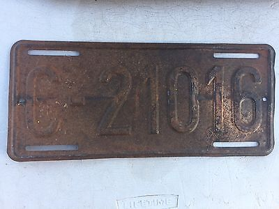 """1950's  Era  Usa Us Forces License Plate """" C 21016 """"  Ready To Be Restored"""