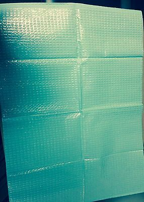 Medical Bibs, 2 Ply Tissue/ Poly  Color: Teal, 250 per/ case