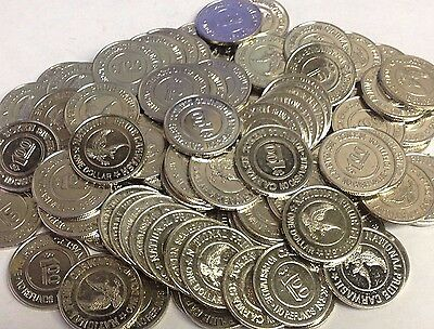 "100 x $1.00 ""NATIONAL PRIDE CAR WASH"" Beaverton OR (Active), 1.073"" Tokens"