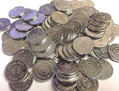 """100 x $1 SEA SUDS Car Wash Tokens, SEATTLE WA (Active) .984"""" / 25mm, 50% OFF!"""