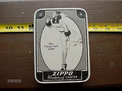 Vintage Zippo Orig Case Varga Girl 1935 Replica Md Usa  Date 1993 Never Used