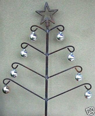 Christmas Tree Star Garden Yard Decoration Metal Iron Scroll Holiday Art Ct001
