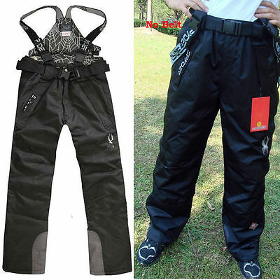 Men's 2In1 Fleece Lined Trousers Warm Waterproof Ski Snowboard Outdoor Pants