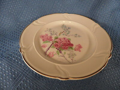 Taylor Smith & Taylor 1164 Bread & Butter Plate Vogue Pink Blue Blossoms**have 4
