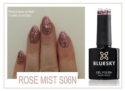 Bluesky Rose Mist Pinky Mauve Christmas Glitter KS4049 UV LED Gel Polish