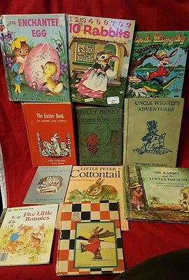 Lot of 11 Wonderful, Vintage (1921-80's) Children's Books ~ Bunny Rabbit Themed