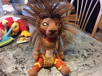 "Disney The Lion King Broadway Musical 12"" Simba Plush Stuffed Doll / Toy"
