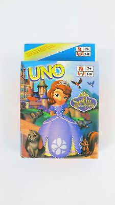 Sofia the First UNO CARDS Family Fun Playing Card Educational Toy Board Game