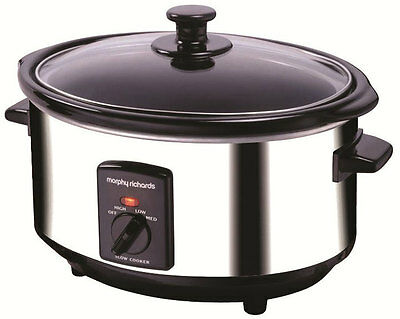 Morphy Richards 3.5L Polished Stainless Steel Slow Cooker - 48710